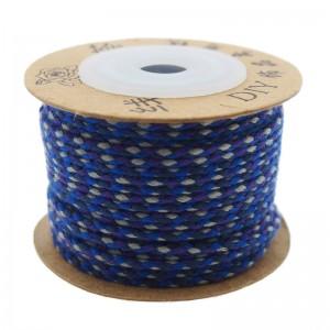 Surfkoord / geweven koord 1.5mm blauw paars per meter