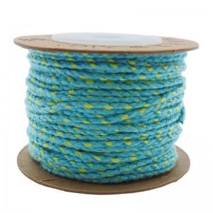Surfkoord / geweven koord 1.5mm turquoise geel per meter