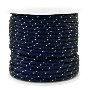 Surfkoord / geweven koord 2mm dark blue per meter