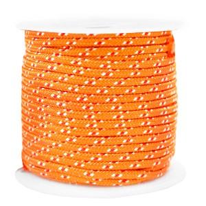 Surfkoord / geweven koord 2mm orange per meter