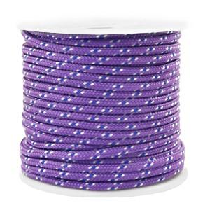Surfkoord / geweven koord 2mm purple per meter