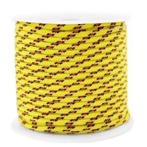 Surfkoord / geweven koord 2mm yellow red per meter