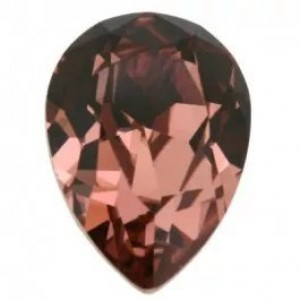 Swarovski druppel blush rose 14x10mm