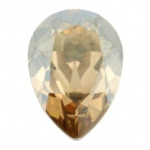 Swarovski druppel crystal golden shadow 14x10mm