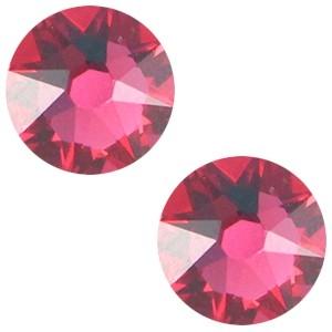 Swarovski platte steen SS34 flatback xirius rose indian pink
