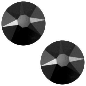 Swarovski platte steen SS34 flatback xirius rose jet zwart