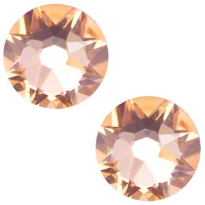 Swarovski platte steen SS34 flatback xirius rose light peach