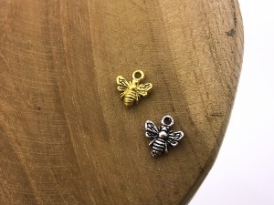 Symbols bee 925 sterling zilver en goldplated (per stuk)