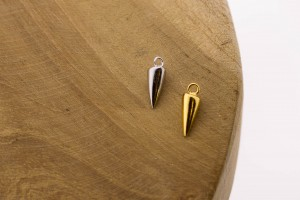Karma symbols cone 925 sterling zilver en goldplated (per stuk)