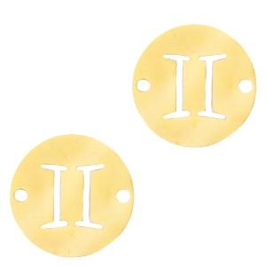bedel-tussenzetsel-sterrenbeeld-tweeling-goud-stainless-steel-12mm