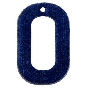 Velvet hangers rechthoek dark blue 43x27mm (per stuk)