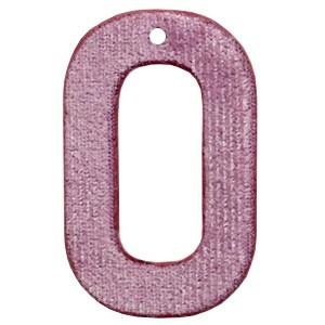 Velvet hangers rechthoek vintage pink 43x27mm (per stuk)