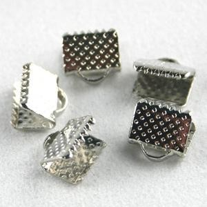 Veterklem / lintklem 15mm zilver