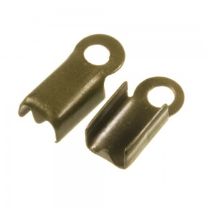 Veterklem / lintklem 3mm brons (5x10x3mm)