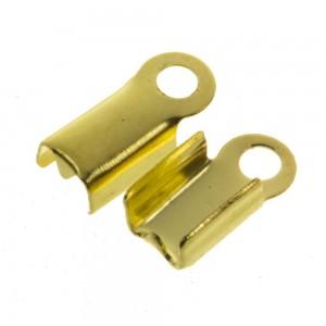 Veterklem / lintklem 3mm goud (5x10x3mm)