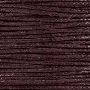 Waxkoord 1mm donker bruin per meter