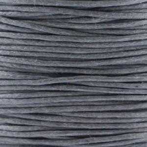 Waxkoord 1mm donker grijs per meter