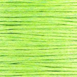Waxkoord 1mm fern green per meter