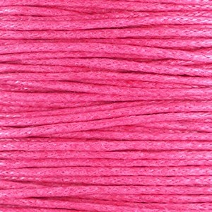 Waxkoord 1mm hot pink per meter