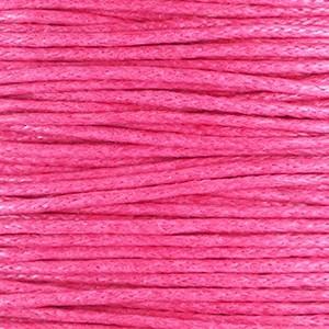 Waxkoord 1mm hot pink per meter