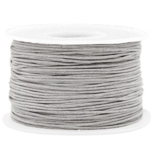 Waxkoord 1mm light grey per meter