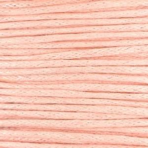 Waxkoord 1mm pastel coral peach per meter