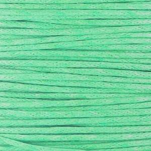 Waxkoord 1mm turquoise green per meter