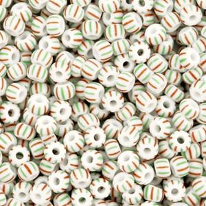 preciosa-rocailles-80-29mm-5-gram-striped-white-mint-green-red