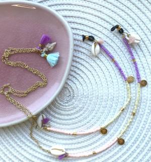 DIY pakket zonnebrilkoord rocailles pastel