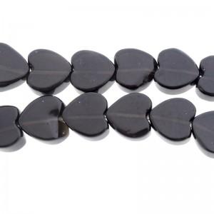 Zwarte onyx hart kraal 10mm